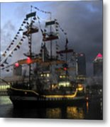 Ship In The Bay Metal Print
