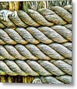 Ship Rope Anchored Metal Print