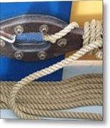 Ship Rope Metal Print