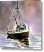 Ship Stormy Weather Metal Print