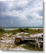 Ship Wrecked And Buried Metal Print