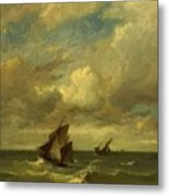 Shipping In A Breeze Metal Print