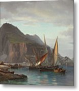 Shipping Off Gibraltar, 1880 Metal Print