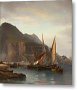 Shipping Off Gibraltar Metal Print