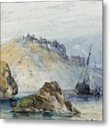 Shipping Off The Coast Of Granville Metal Print