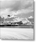 Ships All In A Row Metal Print