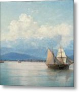 Ships Before The Caucasian Coast Metal Print