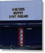 Ship's Water-level Benchmark  Metal Print