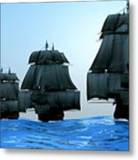 Ships In Sail Metal Print