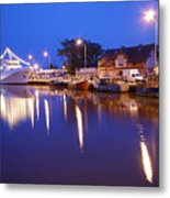 Ships In The Port Metal Print