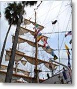 Ships Palm Metal Print