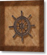 Ship's Wheel Metal Print