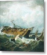 Shipwreck Off Nantucket Metal Print