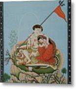 Shiva Romancing With Parvatti. Metal Print