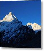 Shivling And Meru, Uttarakhand, India Metal Print