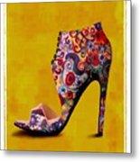 Shoe Illustration 1 Metal Print