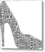 Shoe Shopping Metal Print