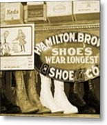 Shoe Shopping In The 30's Metal Print