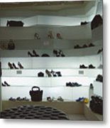 Shoe Store After Hours - Venice, Italy Metal Print