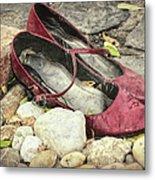 Shoes At The Makeshift Memorial Metal Print