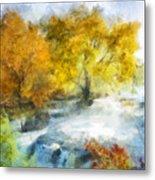 Shohola Falls Autumn Metal Print