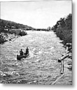 Shooting The Rapids In Maine Metal Print