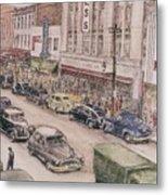Shopping On Elm St. 1949 Metal Print