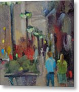 Shopping On The Mag Mile Metal Print