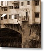 Shops On The Ponte Vecchio Metal Print