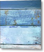 Shore And Sunset Metal Print