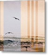 Shore Collage Metal Print