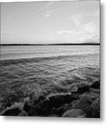 Shoreline Of Jamestown At Dusk Metal Print
