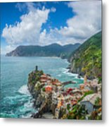 Shores Of Cinque Terre Metal Print