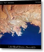 Shores Of Lake Mead Planet Art Metal Print