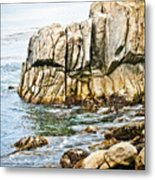 Shores Of Pebble Beach Metal Print
