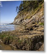 Short Sands Rocks Metal Print