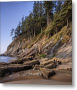 Short Sands Waterfall Metal Print