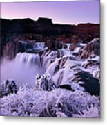 Shoshone Falls In Winter Metal Print