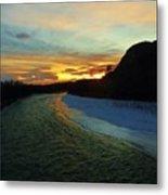 Shoshone River Sunset Metal Print