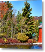 Shoul Point Lighthouse - Old Forge Metal Print