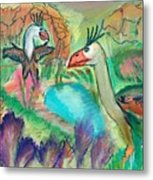 Showdown At The Watering Hole Metal Print