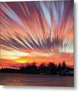 Shredded Sunset Metal Print