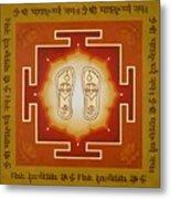 Shri Maha Lakshmi Paduka Metal Print
