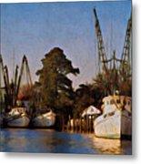 Shrimp Boat Fleet Georgetown Sc Metal Print
