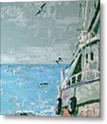 Shrimp Boat In The Gulf Metal Print