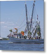 Shrimp Boat Parade Of The Shrimp Festival Metal Print