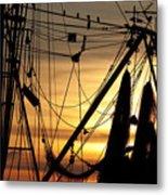 Shrimp Boat Rigging Metal Print