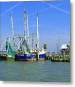 Shrimp Boats Seabrook  Metal Print by Fred Jinkins