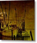 Shrimpboats In Apalachicola  Metal Print