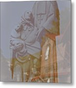 Shrine Reflections Metal Print